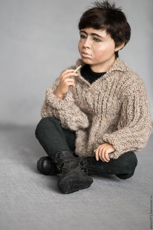 Коллекционные куклы ручной работы. Ярмарка Мастеров - ручная работа. Купить Данила Богров -портретная кукла. Handmade. Бежевый