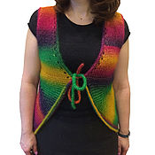 Одежда handmade. Livemaster - original item The vest is knitted openwork