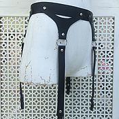 Аксессуары handmade. Livemaster - original item Leather belt with mounts. Handmade.