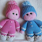 Кукла вязаная Коротышки близнецы (2 куклы)