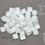 Материалы для творчества handmade. Livemaster - original item 5 g 402 white Japanese Tila beads Miyuki Miyuki opaque. Handmade.