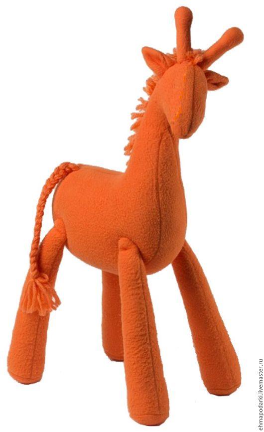 Игрушки животные, ручной работы. Ярмарка Мастеров - ручная работа. Купить Жираф Марик. Handmade. Оранжевый, игрушка, подарок, флис