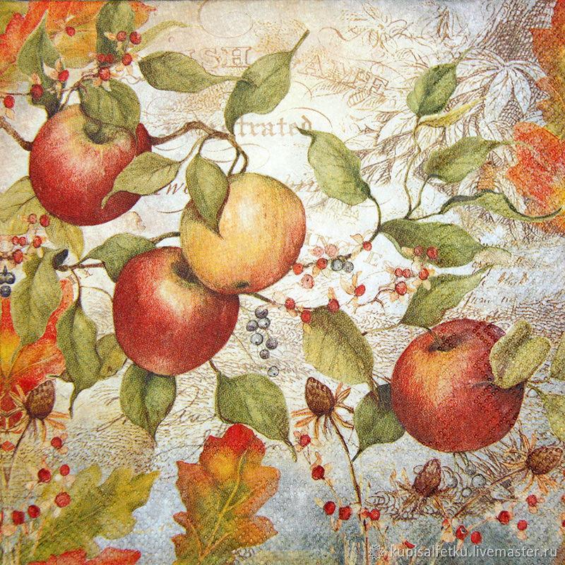 яблоки картинки для декупажа пять голов
