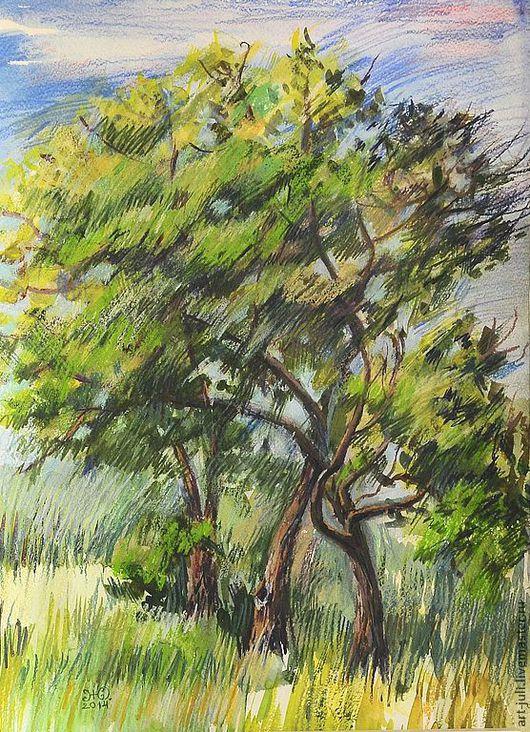 """Пейзаж ручной работы. Ярмарка Мастеров - ручная работа. Купить картина """"Ветренный день"""". Handmade. Картина для интерьера, пейзажи"""