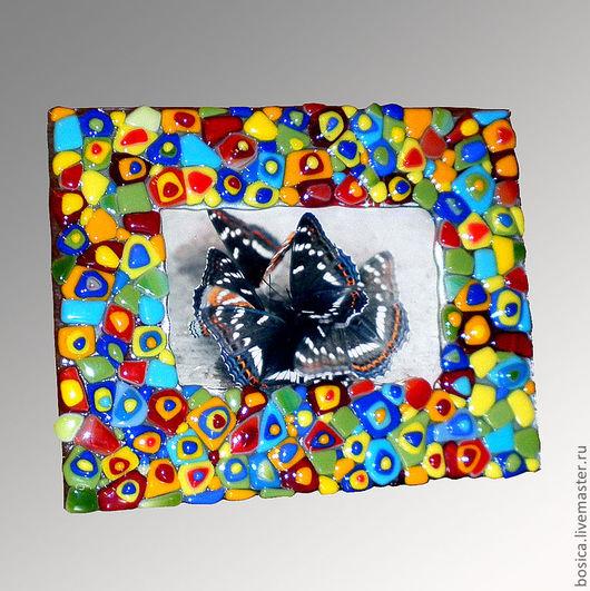 """Фоторамки ручной работы. Ярмарка Мастеров - ручная работа. Купить Фоторамка """"Улыбка Лета"""", фьюзинг. Handmade. Фоторамка, подарок, фьюзинг"""