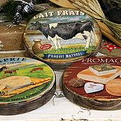 """Для дома и интерьера ручной работы. Ярмарка Мастеров - ручная работа Сырные досочки толстушки"""" Farm House"""". Handmade."""