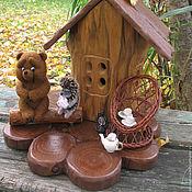 Куклы и игрушки ручной работы. Ярмарка Мастеров - ручная работа Ежик и медвежонок. Ночник. Handmade.