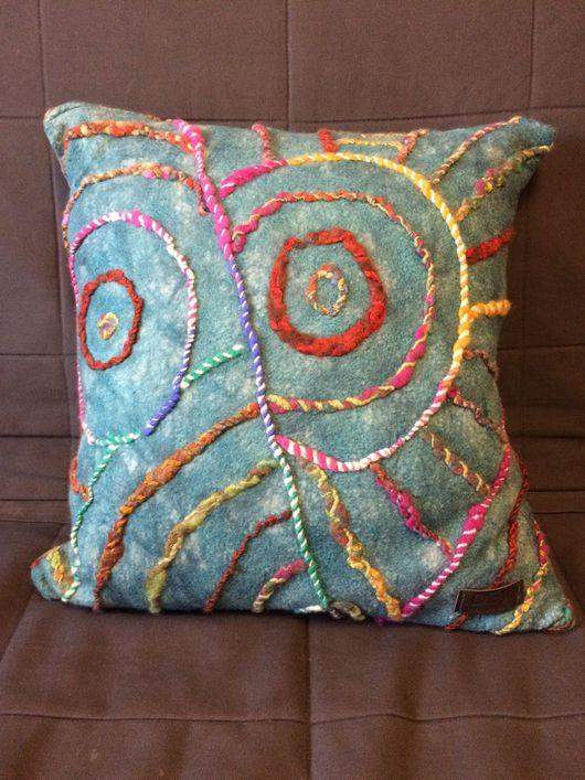 Текстиль, ковры ручной работы. Ярмарка Мастеров - ручная работа. Купить подушка МОРСКИЕ УЗОРЫ. Handmade. Комбинированный, подушка на диван