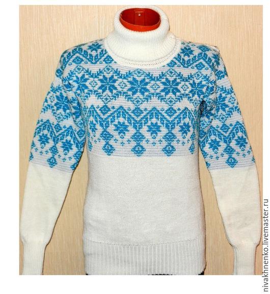 Кофты и свитера ручной работы. Ярмарка Мастеров - ручная работа. Купить Вязаный свитер с норвежским орнаментом Звездопад. Handmade.