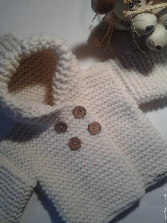 Вязание кофточки для новорожденного спицами описание и 53