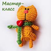 Материалы для творчества handmade. Livemaster - original item Master class on knitting cat. Handmade.