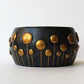 Украшения handmade. Livemaster - original item A wide bracelet made of polymer clay Night lights. Handmade.