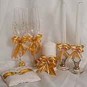 Свадебный салон ручной работы. Ярмарка Мастеров - ручная работа Свадебный набор Золотой. Handmade.