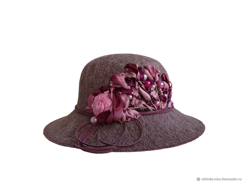 Шляпа женская летняя бордо с розами ЗИМНЯЯ ВИШНЯ, Шляпы, Нижний Новгород,  Фото №1