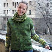Одежда handmade. Livemaster - original item Felted jacket Taiga. Handmade.