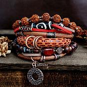 Украшения handmade. Livemaster - original item Boho style suede bracelet with a