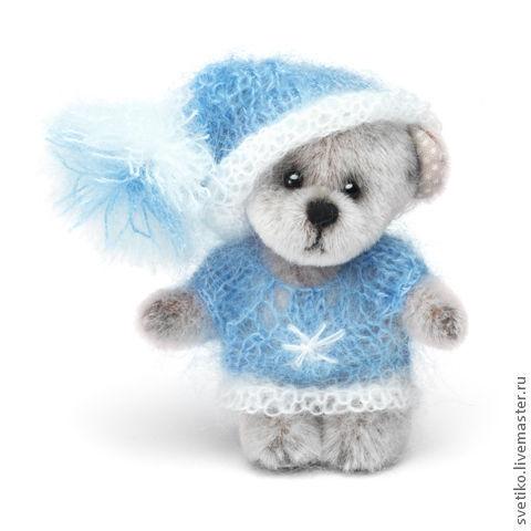 Мишки Тедди ручной работы. Ярмарка Мастеров - ручная работа. Купить Мишка Тедди Bashful. Handmade. Голубой, мишка в подарок