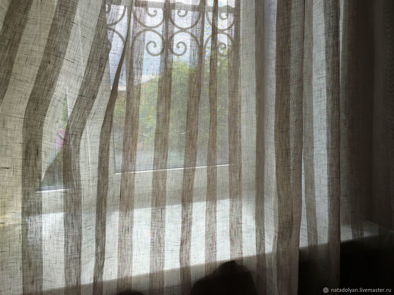 льняные тюли в квартире фото