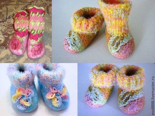 Для новорожденных, ручной работы. Ярмарка Мастеров - ручная работа. Купить пинетки валяные. Handmade. Пинетки для новорожденных, валяная обувь
