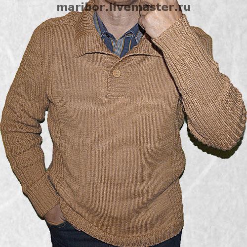 Для мужчин, ручной работы. Ярмарка Мастеров - ручная работа. Купить Мужской свитер .. Handmade. Мужской свитер, подарок для мужчины