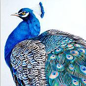Картины и панно handmade. Livemaster - original item Diptych with peacocks. Handmade.