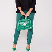 Одежда ручной работы. Ярмарка Мастеров - ручная работа Брючки зеленые 36168-1. Handmade.