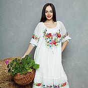 """Одежда ручной работы. Ярмарка Мастеров - ручная работа Вышитое платье сарафан """"Чудесный день"""" ручная вышивка гладью. Handmade."""