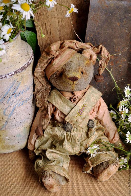 """Мишки Тедди ручной работы. Ярмарка Мастеров - ручная работа. Купить Плюшевый мишка """" Петрушка"""". Handmade. Комбинированный"""