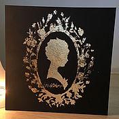 Картины и панно ручной работы. Ярмарка Мастеров - ручная работа Силуэт девушки. Handmade.