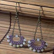 Украшения handmade. Livemaster - original item Long chain earrings. Earrings with chalcedony. Handmade.