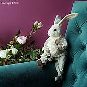 Куклы и игрушки handmade. Livemaster - original item Teddy Animals: March Rabbit. Handmade.