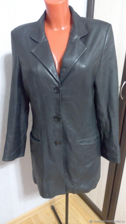 Винтаж: Пиджак женский кожаный, Одежда винтажная, Тверь,  Фото №1