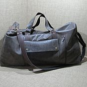Сумки и аксессуары handmade. Livemaster - original item Travel bag WEST EAST genuine leather color dark chocolate. Handmade.