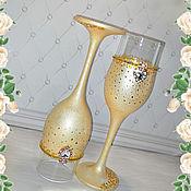 Свадебный салон handmade. Livemaster - original item Wedding glasses ( pair ). Handmade.