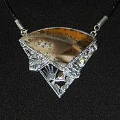 Украшения handmade. Livemaster - original item Silver mount with a moss opal