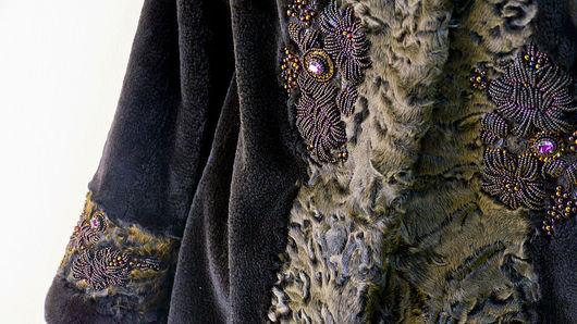 Верхняя одежда ручной работы. Ярмарка Мастеров - ручная работа. Купить каракуль и норка. Handmade. Коричневый, куртка из норки