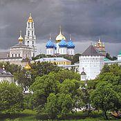 Фото-эскиз мозаики панорамы Свято-Троицкой Сергиевой Лавры