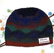 Аксессуары handmade. Livemaster - original item Knitted hat multi-Colored diamonds. Handmade.