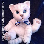 Куклы и игрушки ручной работы. Ярмарка Мастеров - ручная работа котенок Лапа. Handmade.