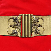 Аксессуары handmade. Livemaster - original item belt-elastic band gold Birds 1 60mm wide, metal decor. Handmade.
