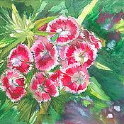 Pictures handmade. Livemaster - original item Watercolor painting Turkish carnation. Handmade.
