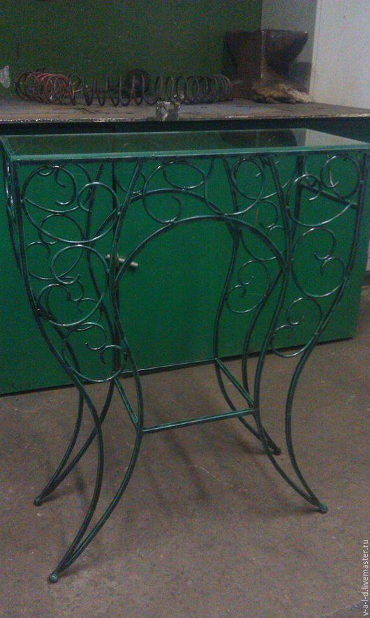 Мебель ручной работы. Ярмарка Мастеров - ручная работа. Купить кованый столик. Handmade. Черный, кованые изделия, кованая мебель