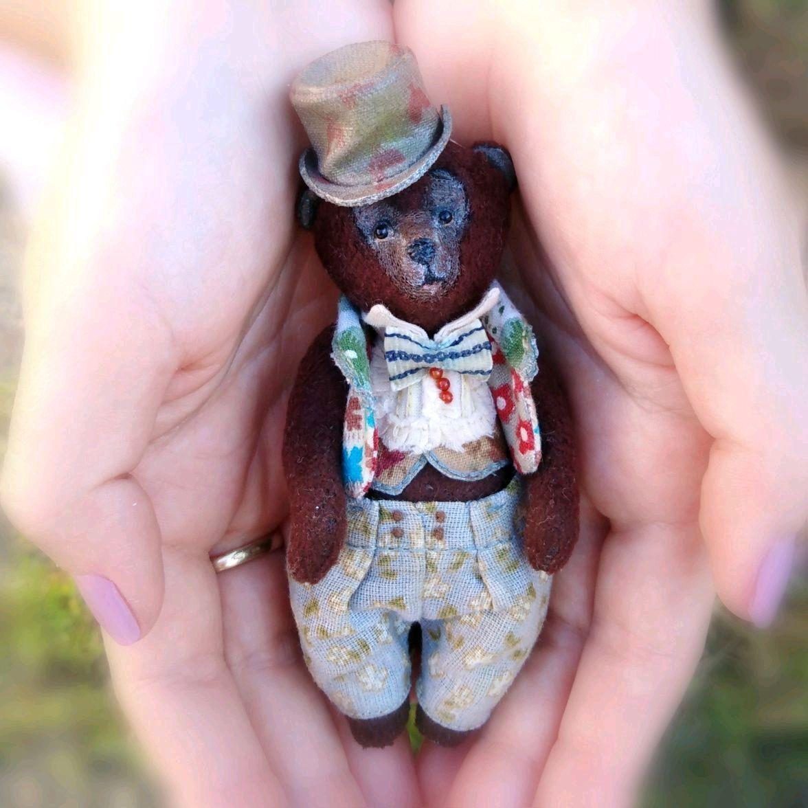 Оливер 10 см. Мини-тедди, Мягкие игрушки, Апшеронск,  Фото №1