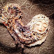 Украшения ручной работы. Ярмарка Мастеров - ручная работа Брошь Бохо Сирин. Handmade.