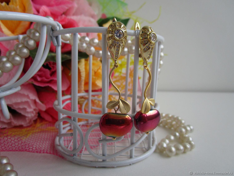 Earrings PARADISE APPLE, Earrings, Nizhny Novgorod,  Фото №1