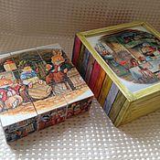 Куклы и игрушки ручной работы. Ярмарка Мастеров - ручная работа Набор детских кубиков продано. Handmade.