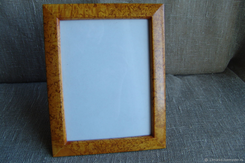 Photo frame made of Karelian birch 15h20 – shop online on Livemaster ...