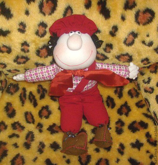 Человечки ручной работы. Ярмарка Мастеров - ручная работа. Купить Клоун. Handmade. Авторская кукла, смешной подарок, текстиль