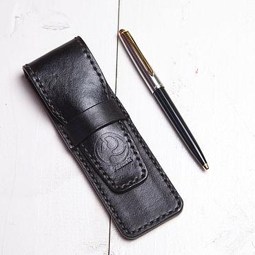 Канцелярские товары ручной работы. Ярмарка Мастеров - ручная работа Чехол для ручки из натуральной кожи. Handmade.
