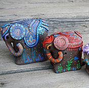Для дома и интерьера ручной работы. Ярмарка Мастеров - ручная работа Слоны. Handmade.